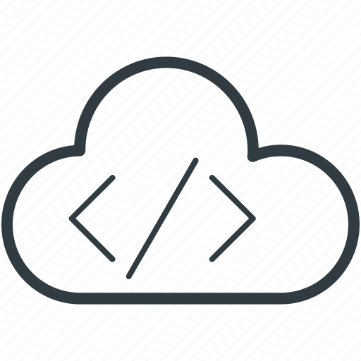 cloud coding, cloud computing, cloud html, cloud programming, html coding icon