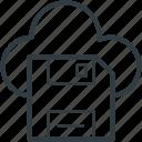 cloud computing, cloud floppy, data storage, file storage, online storage icon