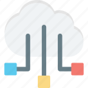 cloud computing, cloud network, cloud sharing, network sharing icon