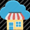 cloud computing, cloud shop, cloud store, ecommerce icon