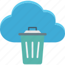 cloud trash, delete, dustbin, recycle bin icon