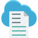 cloud storage, digital storage, file storage, online doc icon