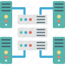 computing, connected server, network server, server icon