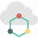 cloud computing, cloud network, cloud sharing, network sharing icon