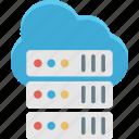 database, network server, server, server rack icon