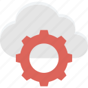 cloud maintenance, cloud repair service, cloud settings, network settings icon