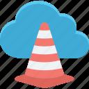 cloud cone, cloud traffic, data highway, internet traffic icon