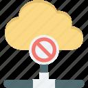 block, cloud computing, error, error sign icon