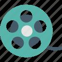 camera reel, film reel, image reel, movie reel icon