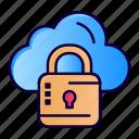 cloud, louck, loucked, network icon