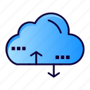 cloud, computing, data, link icon