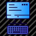 computer, computing, keyboard, monitor icon