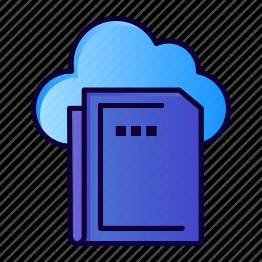 cloud, computing, data, file icon