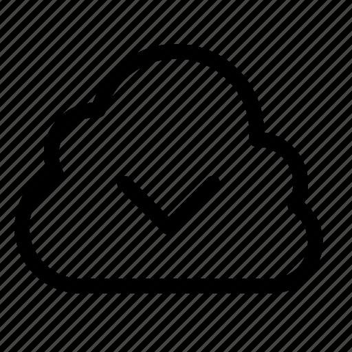 chevron, cloud, down icon
