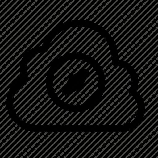 cloud, compass, data, database, online, server, storage icon
