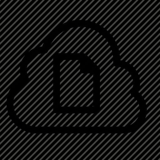 Cloud, data, database, document, file, server, storage icon - Download on Iconfinder