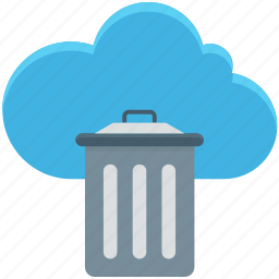 cloud trash, delete, dustbin, recycle bin, trashcan icon