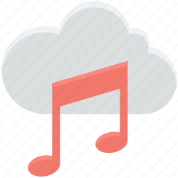 cloud music, music note, online media, online multimedia, online music icon