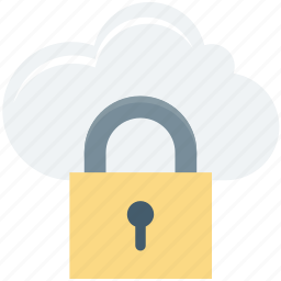 cloud privacy, icloud, lock, padlock, password, security icon