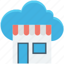 cloud computing, cloud shop, cloud store, ecommerce, eshop icon