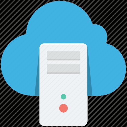 cloud desktop, cloud server, computer, desktop, pc icon