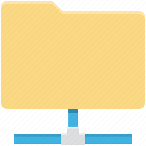 connected folder, folder sharing, linked folder, server folder, server storage icon