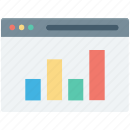 bar chart, bar graph, business chart, monitor, online graph icon