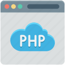 database, php, php development, programming, web development icon