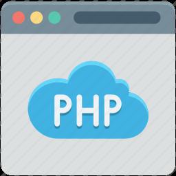 database, php, php development, programming, web development icon
