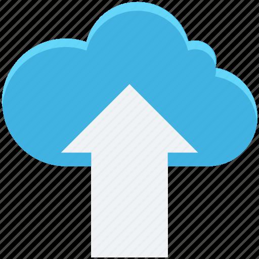 cloud computing, cloud transfer, cloud upload, data transmission, uploading icon