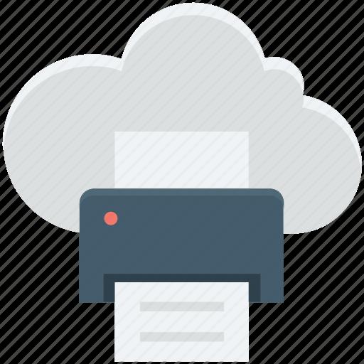 cloud printing, facsimile, facsimile machine, fax machine, online printing icon