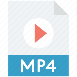 media file, movie, mp4, mp4 file, video file icon