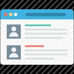 customer testimonials, customer view, testimonials, web page, web view icon