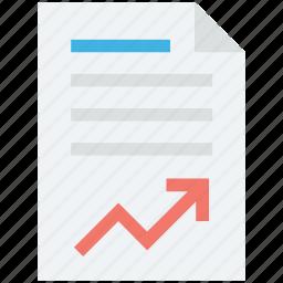 business report, graph paper, graph report, report, statistics icon