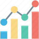 analytics, bar chart, bar graph, growth chart, statistics icon