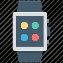digital watch, os watch, smartwatch, smartwatch app, wristwatch icon