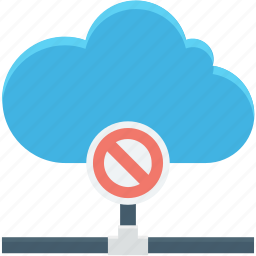 block, cloud computing, error, error sign, warning icon