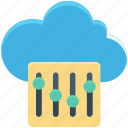 cloud maintenance, cloud repair service, cloud setting, network settings, settings icon