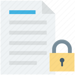 file lock, file locked, file security, privacy, protection file icon