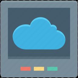 cloud, cloud computing, cloud screen, icloud, network screen icon