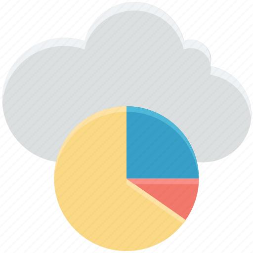 cloud computing, cloud infographic, infographic library, online graphs, pie chart icon