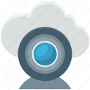 cloud camera, live chatting, online multimedia, video call, web camera icon
