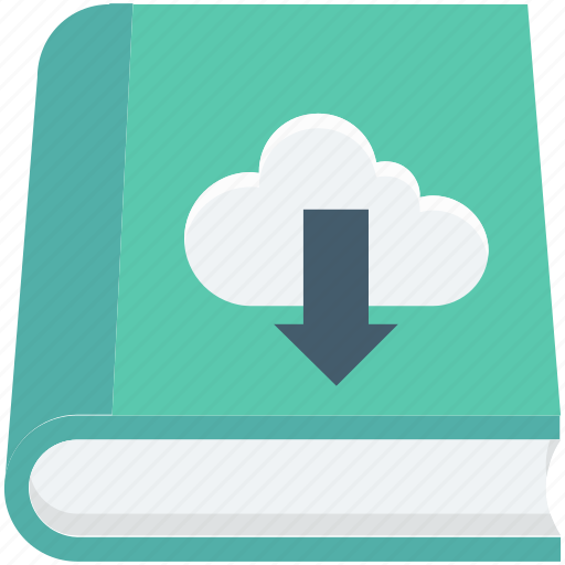 book, cloud computing, cloud reading, download, study icon