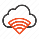 cloud, connection, signal, wifi