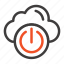 cloud, network, off, power icon