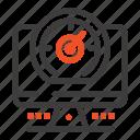 compass, computer, location, timer