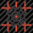 computing, gear, line, setting icon