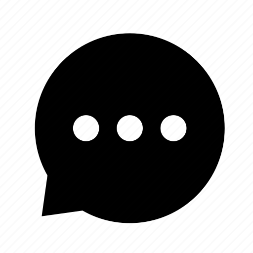 chat, cloud, dialogue, dot, left icon