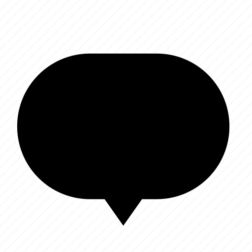 blank, center, chat, cloud, dialogue, round icon