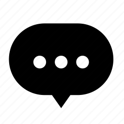 center, circle, cloud, dialogue, dot, round icon
